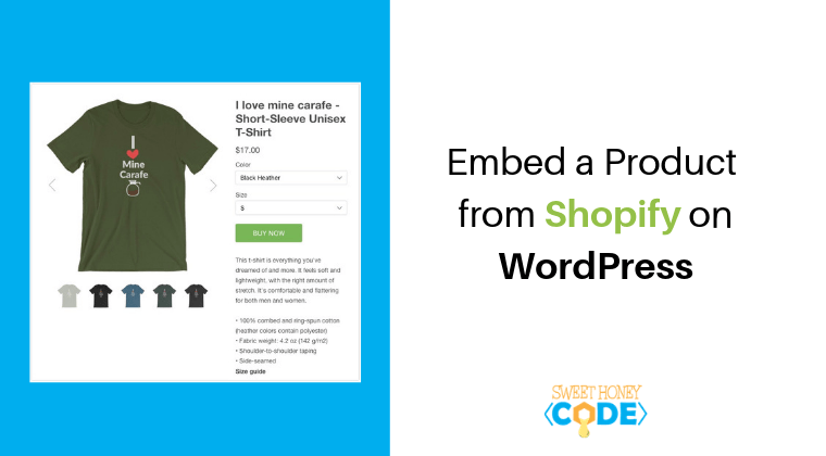 Embed a product from Shopify on Wordpress